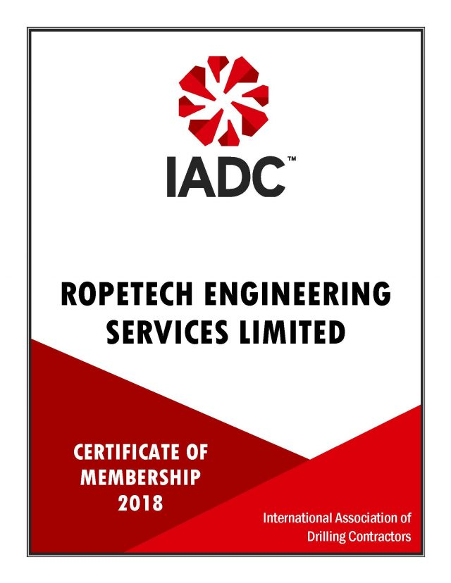 International Association of Drilling Contractors – Membership Certificate