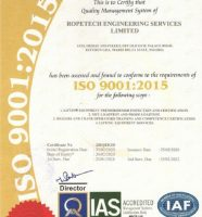 ISO 9001. 2015 Certificate