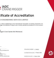 CRANE-RIGGER ACCREDITED COURSES (IADC)